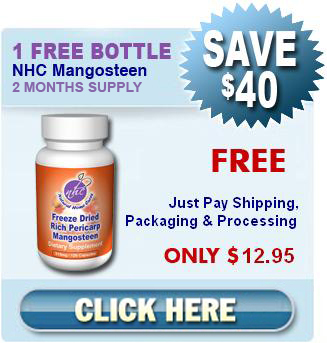 Receive 1 Free Bottle of Freeze Dried Mangosteen